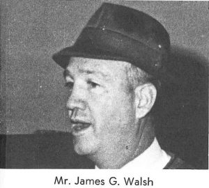Coach Jim Walsh, one of Jesuit's legendary teachers and coaches and here in a yearbook photo from the early 1970s, is the father of Admiral Patrick Walsh.