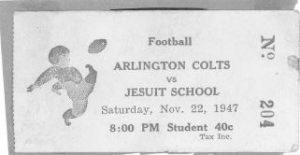 1947 football ticket