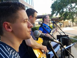 September 9, 2016 Mr. Berry in faculty band before football game